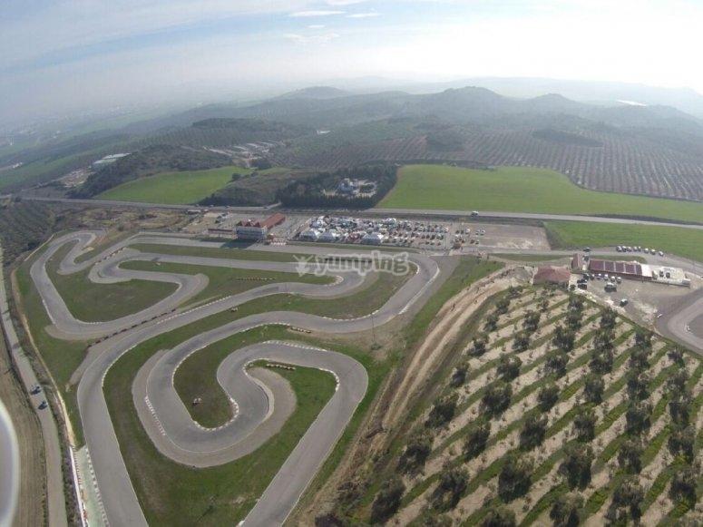 Vista area del circuito de Campillos