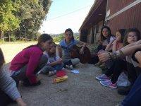 Gruppo di studenti che parlano