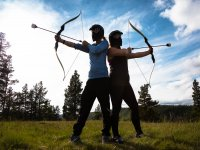 Jugadores de archery tag