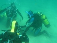 foto bajo el agua