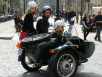 three by motorcycle
