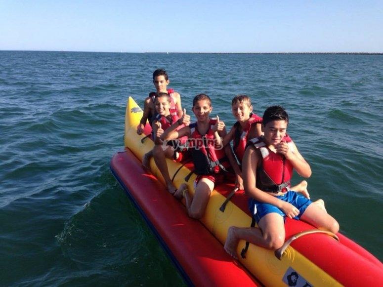 Navegar en banana boat