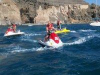 Una jornada en moto de agua