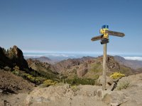 Cruce de caminos en Roque Nublo
