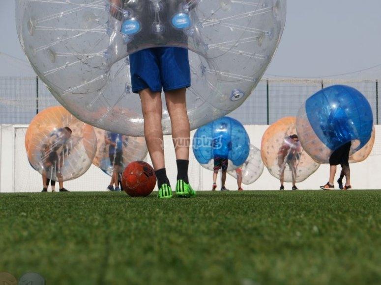 Burbujas hinchables para jugar