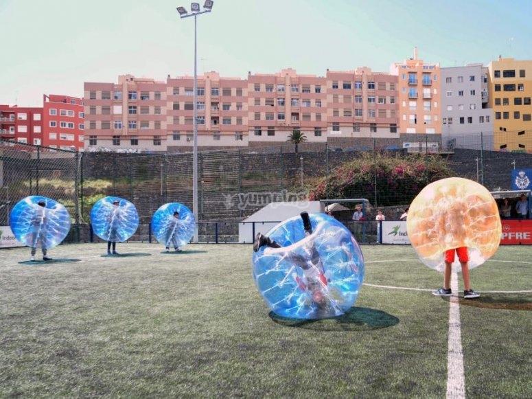 Futbol burbuja en Tenerife