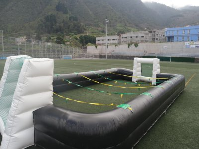 Human football and minigolf rental Tenerife