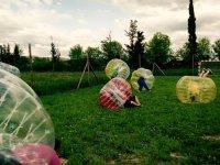 Partido de Futbol burbuja en Jaca