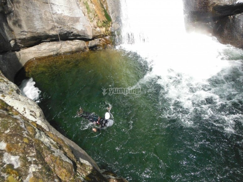 Natural pool in the canyon