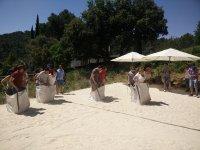 在沙袋中竞赛