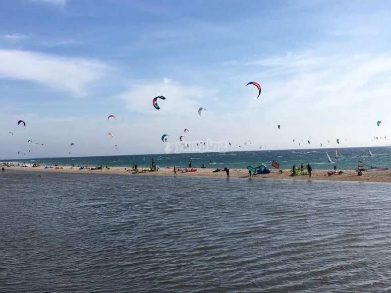 Cometas de kitesurf en Tarifa