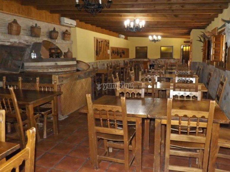 Sala da pranzo nell'ostello