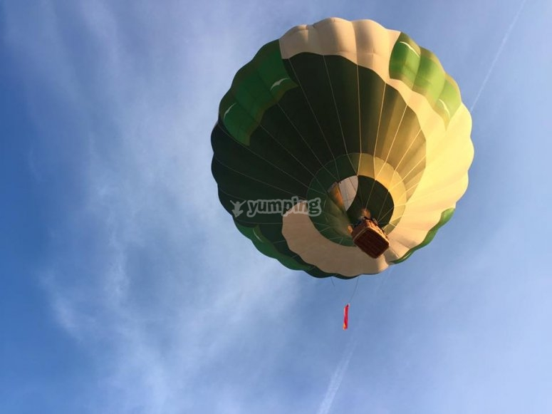 Balloon from the land