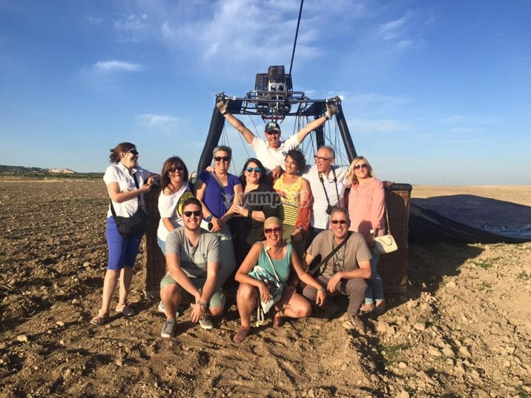 Group picture after the landing