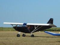Savannah plane on the ground