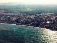 Flying over the Valencian coast