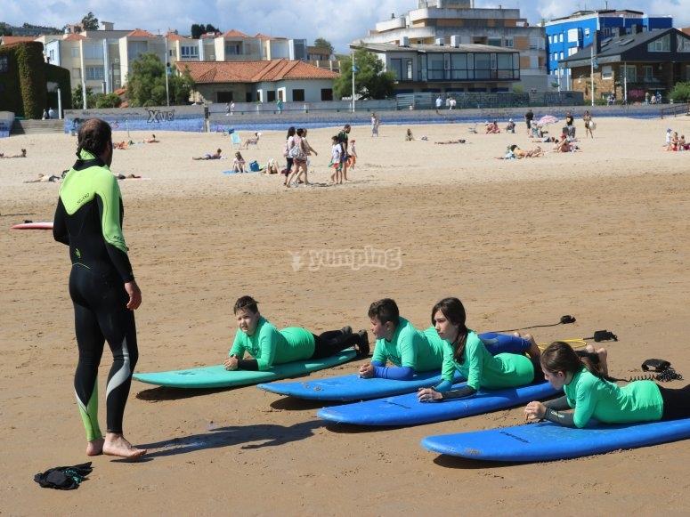 Campi di surf per bambini