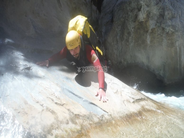 Escalando en Lanjarón