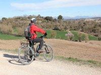 标志Castellfollit冒险骑自行车游览MTB Castellfollit