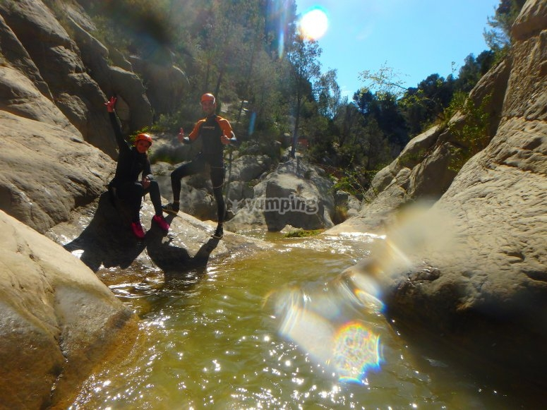 Abseiling of the canyon, Valencia
