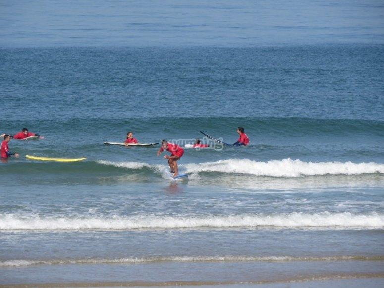 Aprendiendo surf