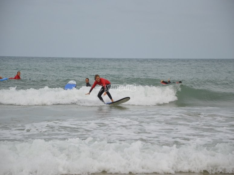 Learnign to surf