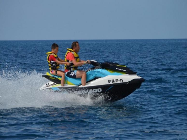Speeding the watercraft up