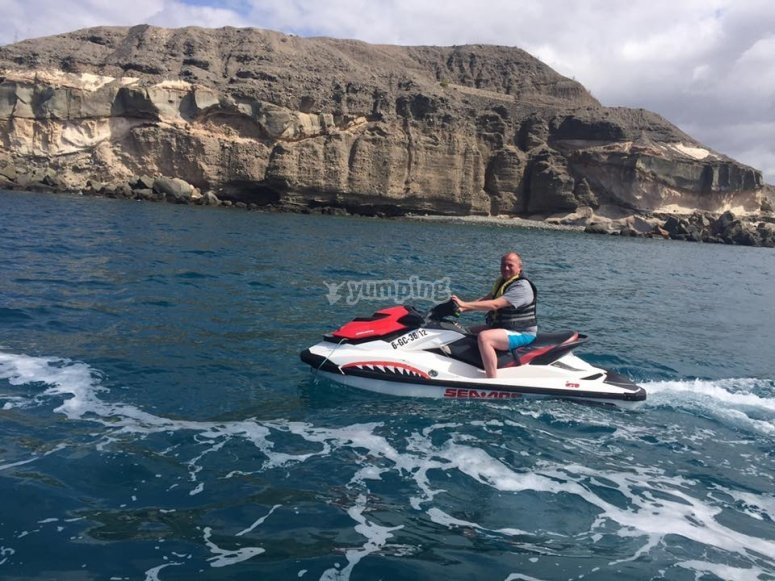 Driving the watercraft