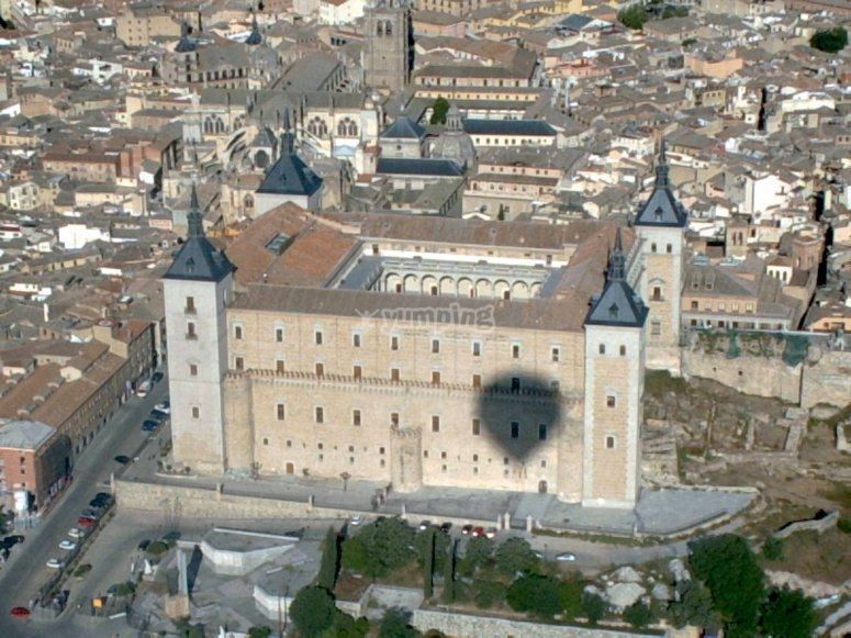 Alcazar de Toledo from the balloon