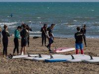 Sesión de iniciación paddle surf en Castellón 1h