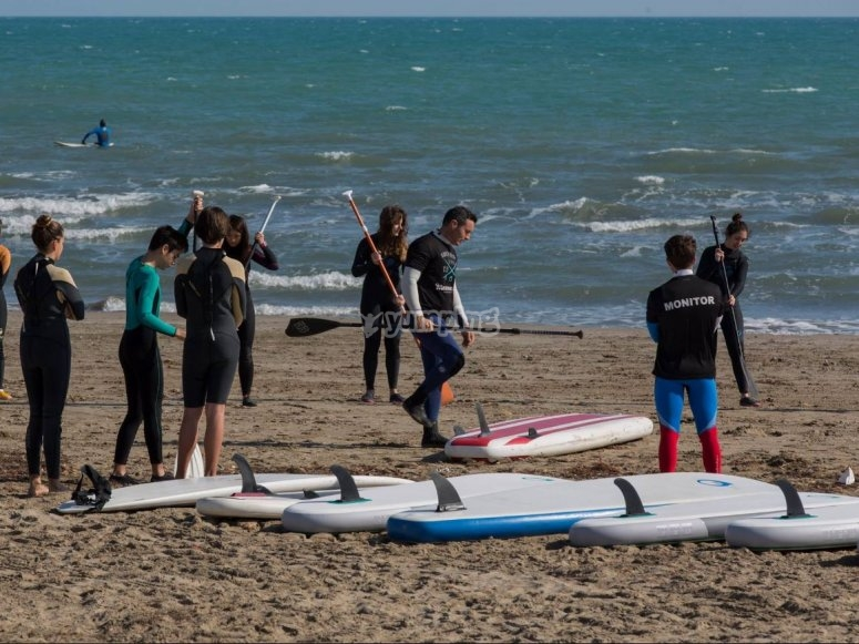 Spiegare paddle surf