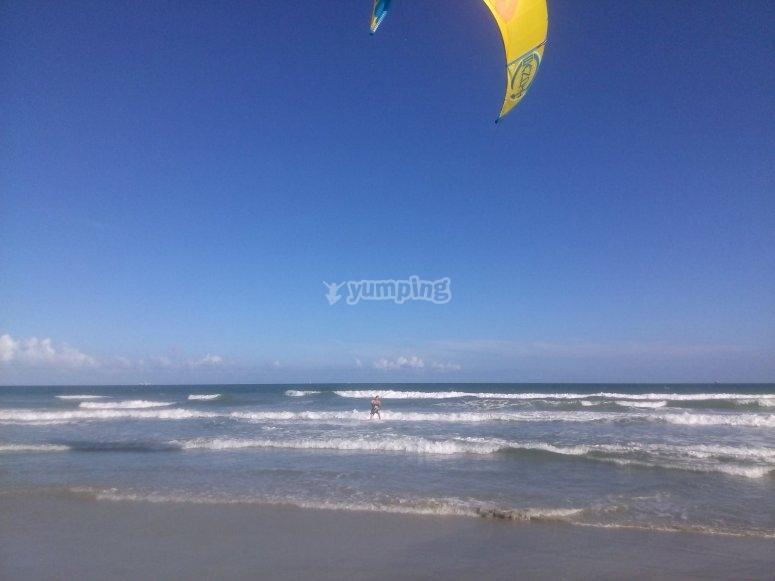 Kitesurf sulla sabbia