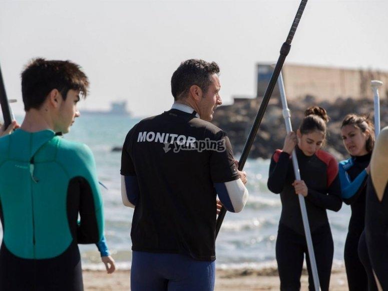 Monitorare spiegando come usa la paddle