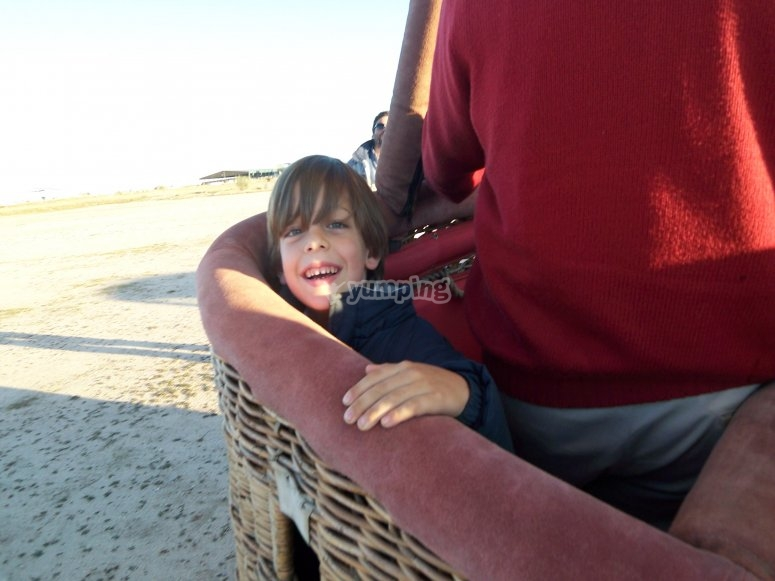 Family hot-air balloon ride