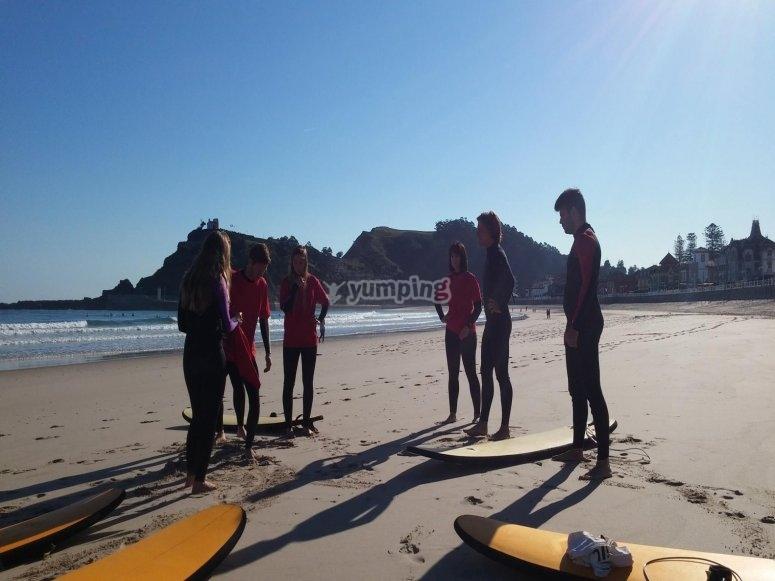 Preparazione della sessione in spiaggia