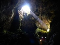 Lighting the cave gallery