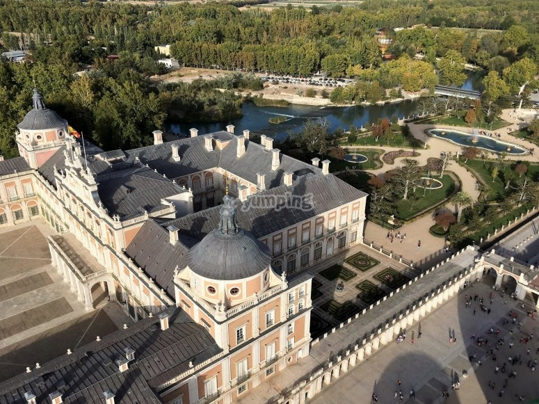 Aranjuez palaca from the aerial perspective
