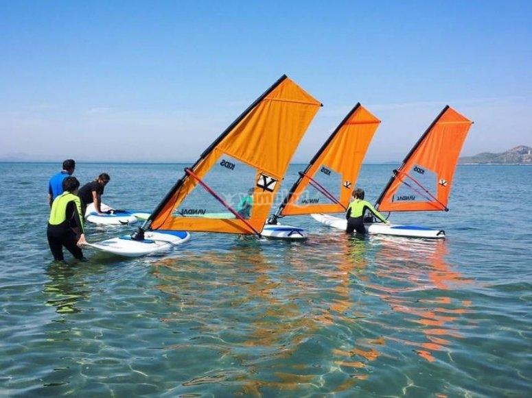 Clases practicas en el mar