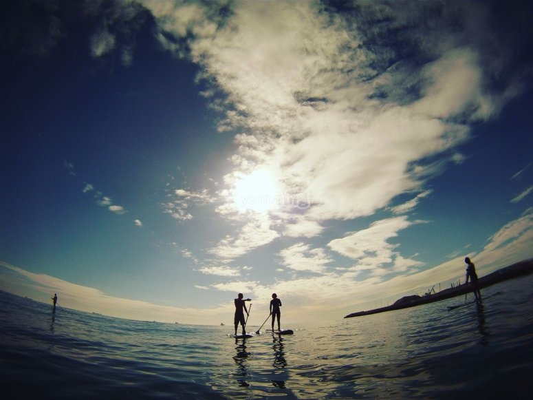 Sesion de paddle surf muy tranquila