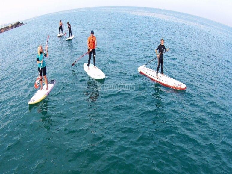 划桨冲浪组