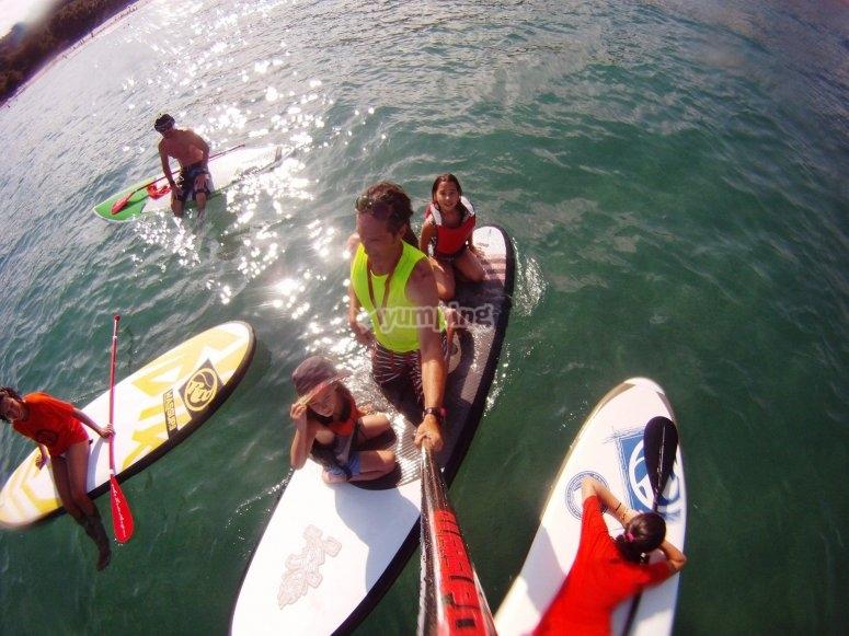 测试桨冲浪