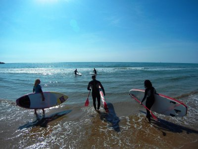Paddle surf classes at Oropesa del Mar