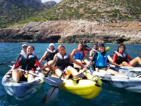 Todos juntos en los kayaks