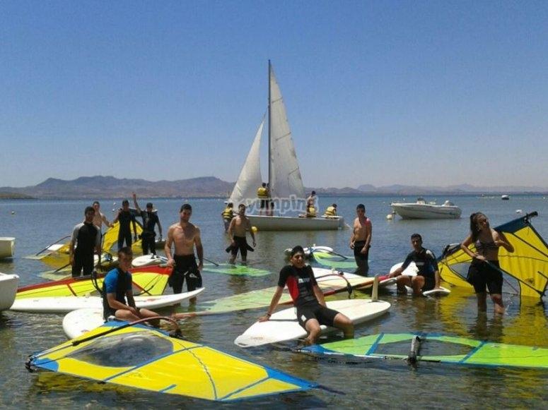 Material de windsurf en Murcia