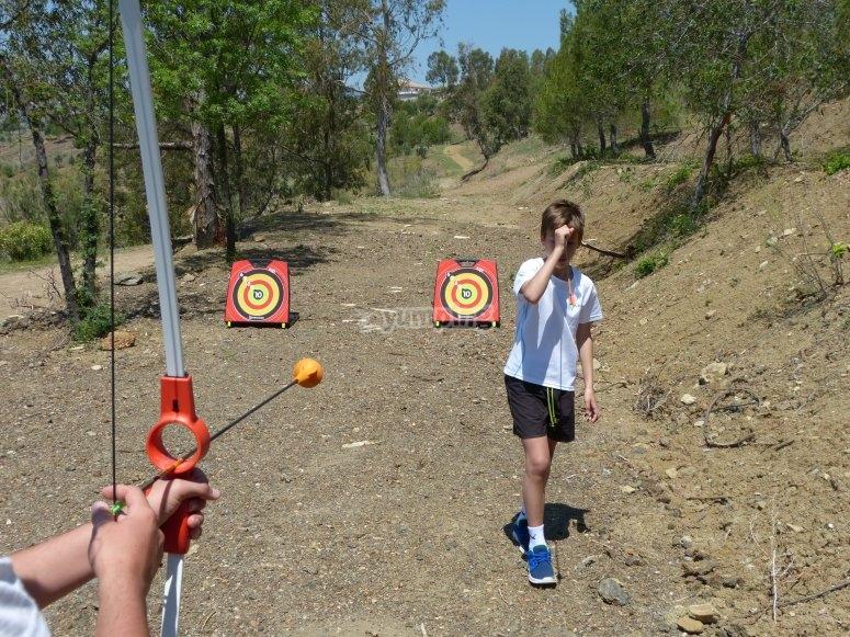 En la zona de tiro con arco