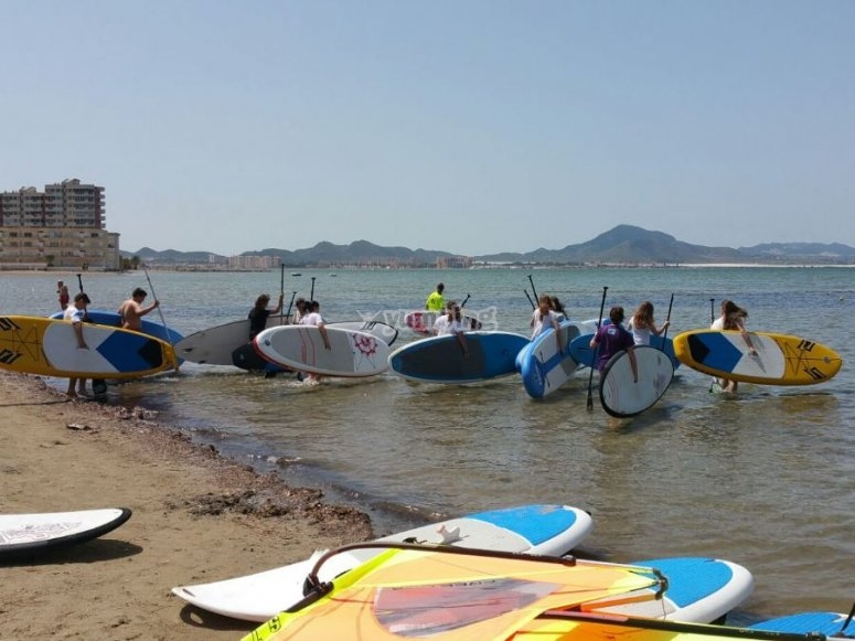 Paddle surf in Murcia
