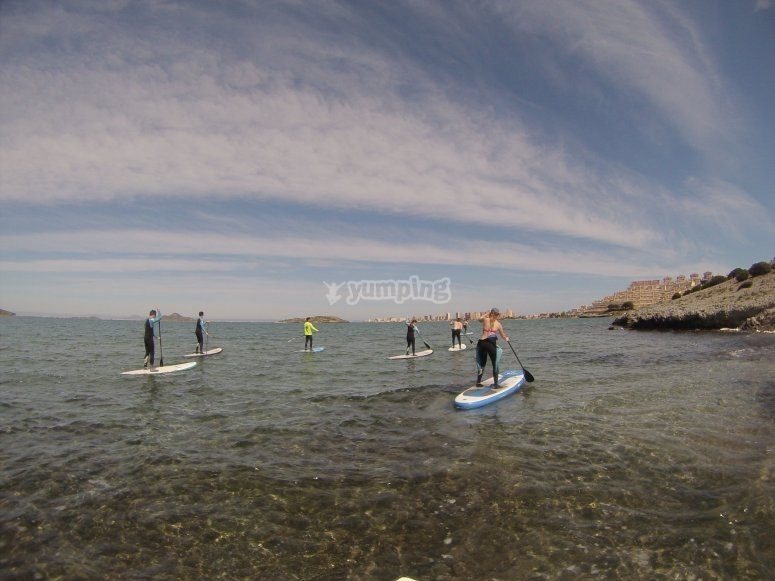Group at a sup lesson