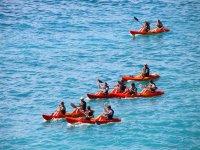Jornada en kayak por el mar