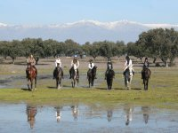 Riding on horseback through the natural park