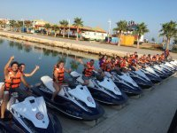 Greeting from our jet ski drivers